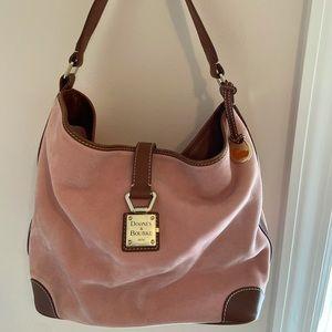 Gorgeous RARE Dooney & Bourke soft pink SUEDE shoulder bag